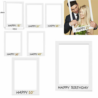£4.45 • Buy Happy 18/21/25/30/40/50th Birthday Photo Booth Props Picture Frame Paper Party