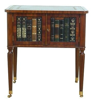 $695 • Buy 50455EC: MAITLAND SMITH Leather Book Spine Occasional Table