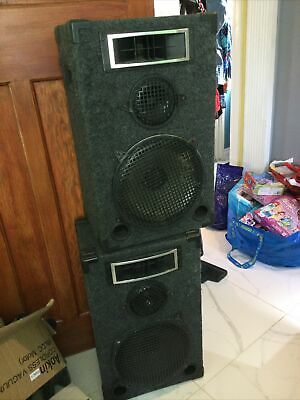 £35 • Buy 2 Separate Extra Large Sound System Speakers Heavy Duty Untested