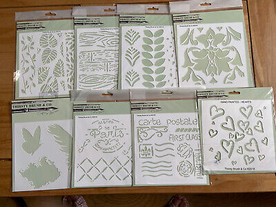 £5 • Buy Thirsty Brush (stamps By Me) Stencils Lot - Hearts/leaves/floral/butterfly -bnip