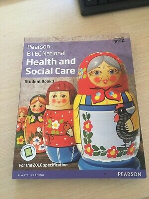 £20 • Buy Pearson BTEC National Health And Social Care Student Book 1