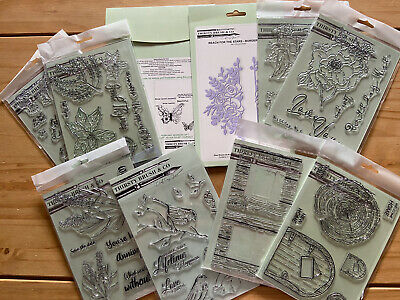 £20 • Buy Thirsty Brush Mixed Lot - Floral/herbs/butterfly/birds/wood Slice Stamps & Dies
