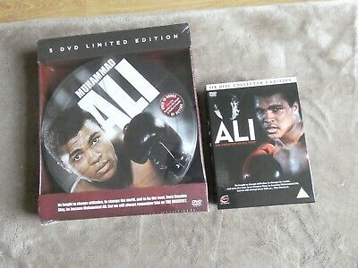 £4.99 • Buy 2 Muhammad Ali Box Sets 5 Dvd Limited Edition In A Tin/ 6 Disc Collectors Editio