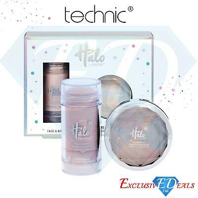£5.95 • Buy Technic Halo Face & Body All That Shimmers Powder Highlighter Kit Pink & White