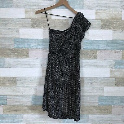 $19.99 • Buy MM Couture Miss Me One Shoulder Dress Black Beige Print Fit & Flare Womens XS