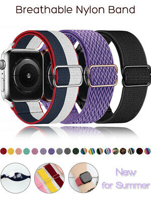 AU2.75 • Buy Band Strap For Apple Watch Sports Series 6 5 4 3 2 1 SE 38/40/42/44mm Nylon Loop