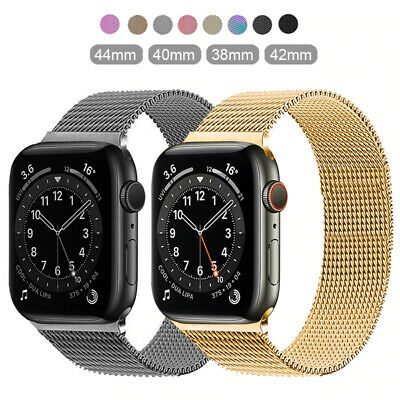 $ CDN0.17 • Buy For Apple Watch Series SE 6 5 4 3 2 1 Milanese Loop Band Iwatch Strap 38 42 44mm
