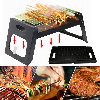 $ CDN49.14 • Buy Folding BBQ Stove Stainless Barbecue Charcoal Grill Camping Patio Vacation