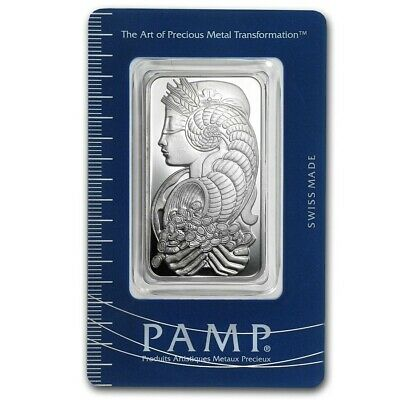 £38.66 • Buy 1 Oz Pamp Suisse Lady Fortuna Silver Bar .999 Fine Silver With Assay Certificate