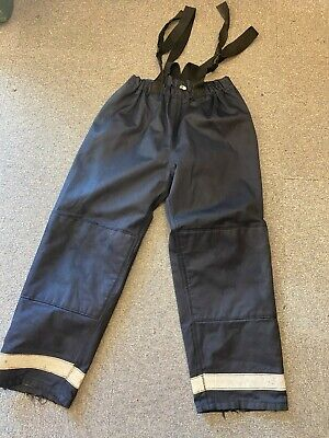 £12.99 • Buy British Fire Rescue Service  Firefighters Blue Silver Leggings XL / X Tall