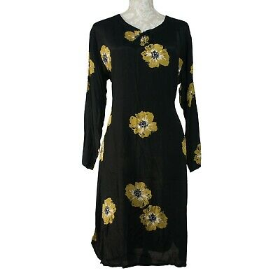 £8 • Buy The MASAI Clothing Company Women's Floral Shift Dress Black Summer Tunic Size L