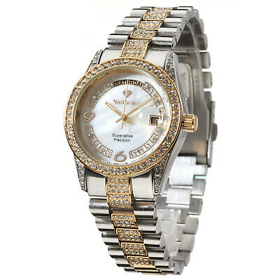 £99 • Buy YVES CAMANI Tiberius Ladies Watch Gold Plated Stainless Steel Mother Of Pearl