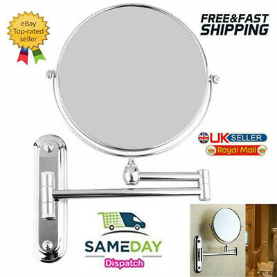 £15.99 • Buy Wall Mounted Extendable Swivel Magnifying Glass Makeup Shaving Bathroom Mirror
