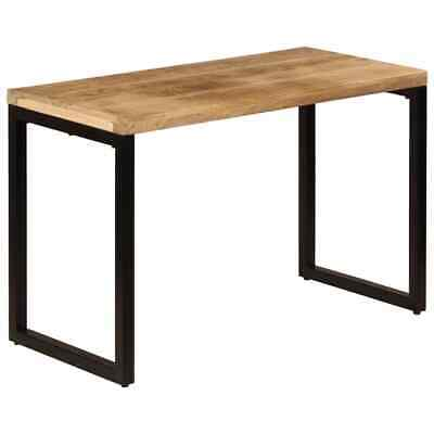 £216.99 • Buy VidaXL Dining Table Solid Mango Wood And Steel Industrial Kitchen Dinner Stand