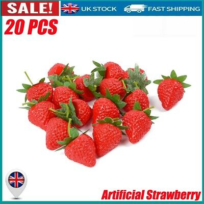 £6.88 • Buy 20XArtificial Plastic Strawberry Fruit Food Fake Display Kitchen Home Shop Decor