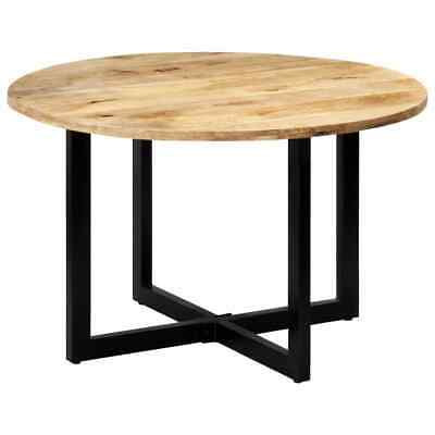 £227.99 • Buy VidaXL Solid Mango Wood Dining Table 120cm Round Home Kitchen Stand Furniture