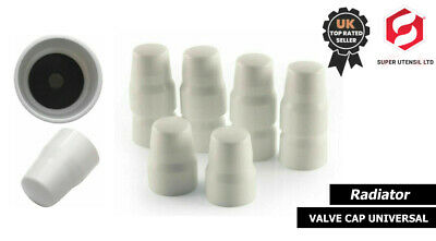 £8.99 • Buy 10 X Central Heating Radiator Replacement Caps / Cap Universal Valve White New
