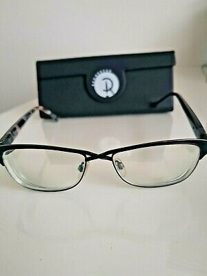 £20 • Buy Ladies Glasses Frame- Red Or Dead Black Criss Cross Front With Spare Arms Uk