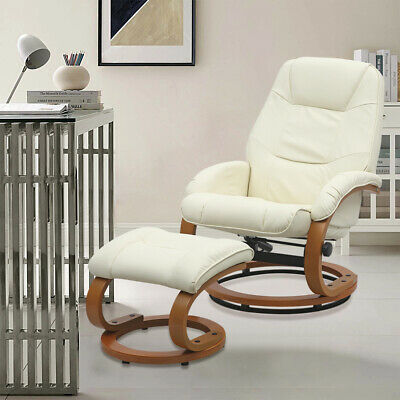 £229.95 • Buy Comfortable Relax Rocking Chair Recliner Swivel Chairs With Footstool Leather