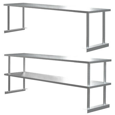 £55.95 • Buy Commercial Kitchen Work Table Stainless Steel Over Shelf Bench For Prep Table UK