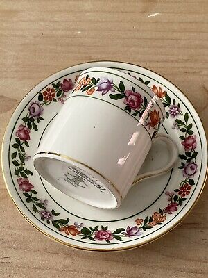 £4.99 • Buy Crown Staffordshire Pink Roses Coffee Cup Can & Saucer Jas Shoolbred & Co.