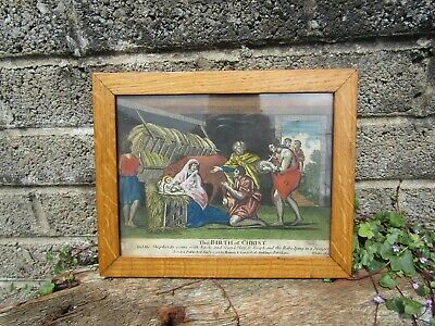 £99.99 • Buy Antique 18th Century Hand Coloured Religious Engraving - Antique Early Print