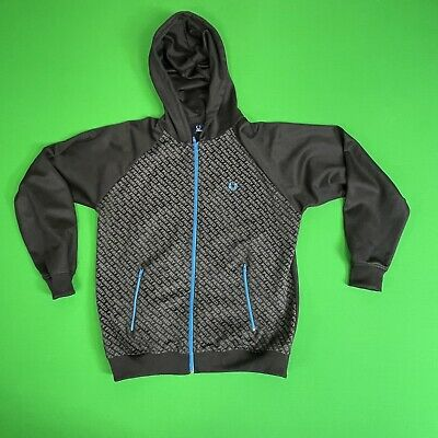 £18 • Buy Black FRED PERRY Hoodie Jacket VGC  Size L XL