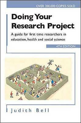 £5 • Buy Doing Your Research Project: A Guide For First-Time... By Bell, Judith Paperback