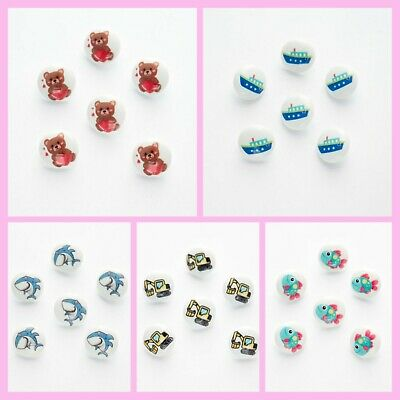 £2.45 • Buy 10 Picture Buttons 15mm Baby, Childrens Novelty Buttons, Craft Supply