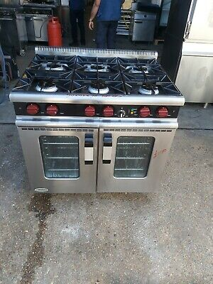 £1150 • Buy Moorwood 6 Burner Cooker With Convection Oven Commercial NAT GAS Heavy Duty USED