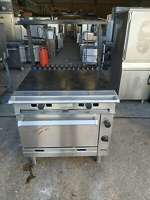 £1350 • Buy Falcon G1006FX Chieftain Twin Bullseye Gas Oven Range Solid Top Gas Cooker Plate