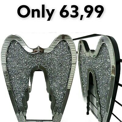 £63.99 • Buy Crushed Diamond Angel Wings 40x60 Sparkle Bling Romany Wall Hung