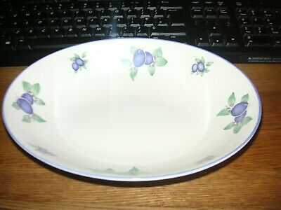 £8.99 • Buy Royal Doulton Everyday Open Oval Vegetable Serving Dish 1994 China Blueberry
