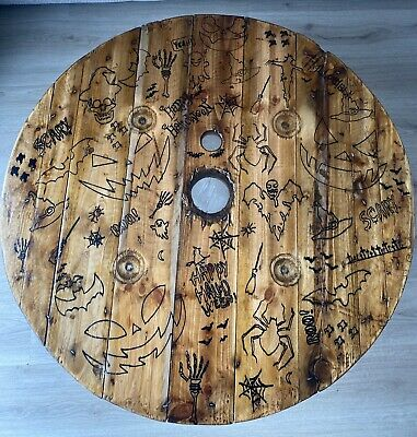 £70 • Buy Made To Order Rustic Wooden Coffee Table Industrial Cable Reel Drum