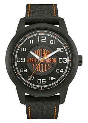 £104.91 • Buy Harley-Davidson Mens Stainless Steel W/ Black Ion Plating Strap Watch 78A116