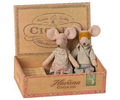 £47.50 • Buy Maileg Mouse Mum & Dad Mice In Cigarbox - BRAND NEW