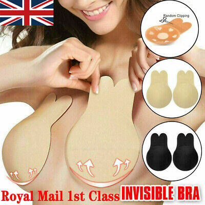£3.49 • Buy 2x Silicone Gel Invisible Bra Self-adhesive Push Up Strapless Backless Stick On