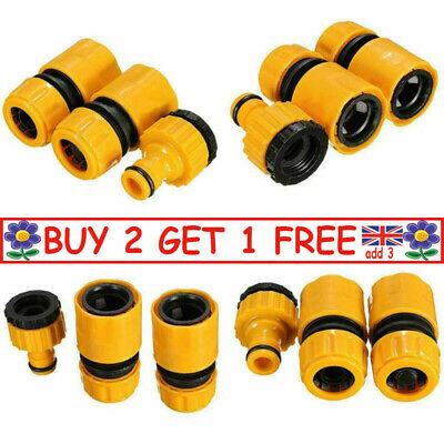 £4.99 • Buy 3Pcs Garden Hose Connectors Watering Pipe Tap Plastic Connector Adaptor Fitting