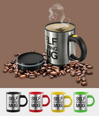 £6.99 • Buy Self Stirring Mug Stainless Steel Lazy Automatic Coffee Tea Milk Mixing Cup Gift