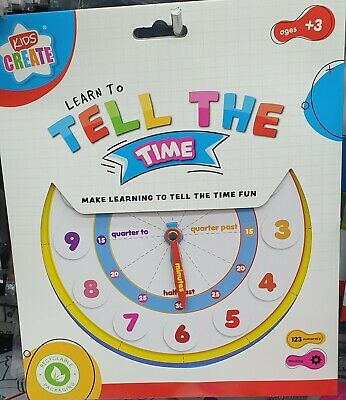 £4.50 • Buy Kids Teaching Clock Child Learn To Tell The Time Boys Girls Educational Game Toy