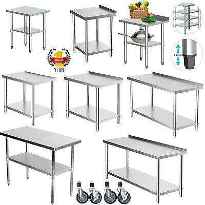 £69.91 • Buy WestWood Stainless Steel Commercial Catering Table Work Bench Kitchen Top Prep