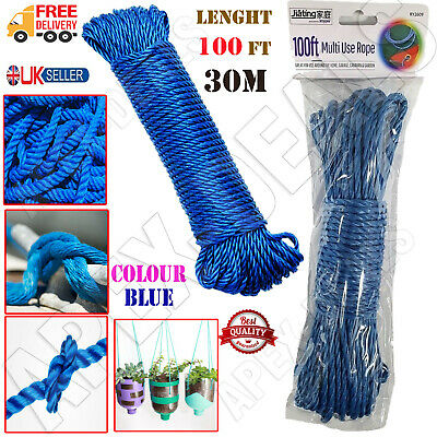 £4.45 • Buy 🔥30 M Washing Line Clothes Line Laundry Steel Core Plastic Coated Rope Outdoor