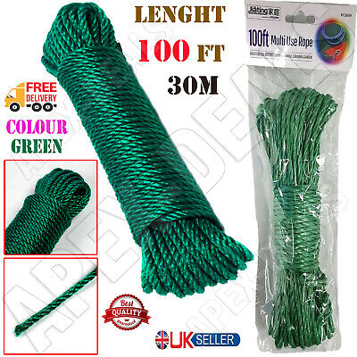 £4.45 • Buy 🔥New Washing Line Clothes Line Pulley Laundry Dryer Clothes Outdoor Rope 30M 🔥