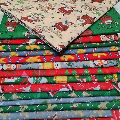 £4.59 • Buy NEW Christmas Printed PolyCotton Quality Material Poly Cotton Fabric Per Metre