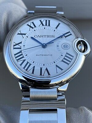 $4825 • Buy Extremely Mint Cartier Ballon Bleu 42 Complete Set W69012Z4 Stainless Steel