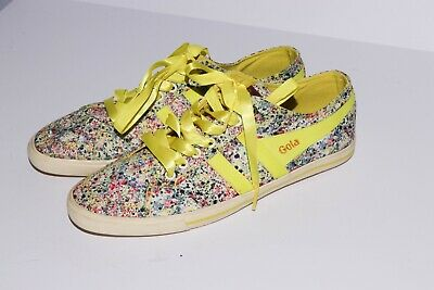 £21.46 • Buy Gola Quota Melly Sneakers In Mimosa Liberty Print Neon Yellow Size 9