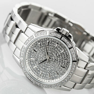 £84 • Buy YVES CAMANI GALAURE Womens Watch Stainless Steel Silver Zirconia Crystals New