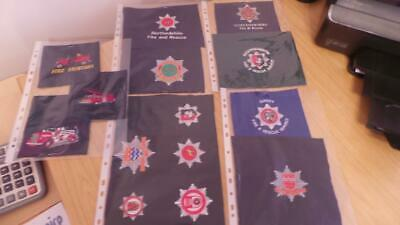 £25 • Buy RB81: Collection Of British Fire Fighter / Department Badges On Cloth X 14