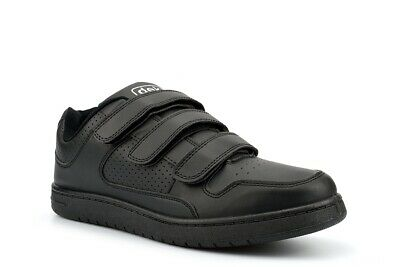 £15.98 • Buy Mens Wide Fitting Trainers Black Touch Fastening Shoes Casual Sports New Size