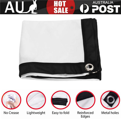 AU16.79 • Buy 60-150  Portable Foldable Projector Screen 16:9 HD Outdoor Home Cinema Theater-
